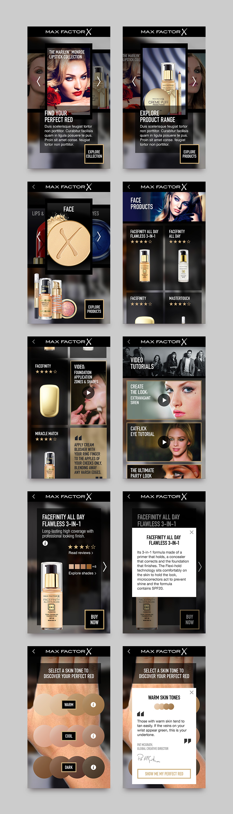 Max Factor augmented reality app